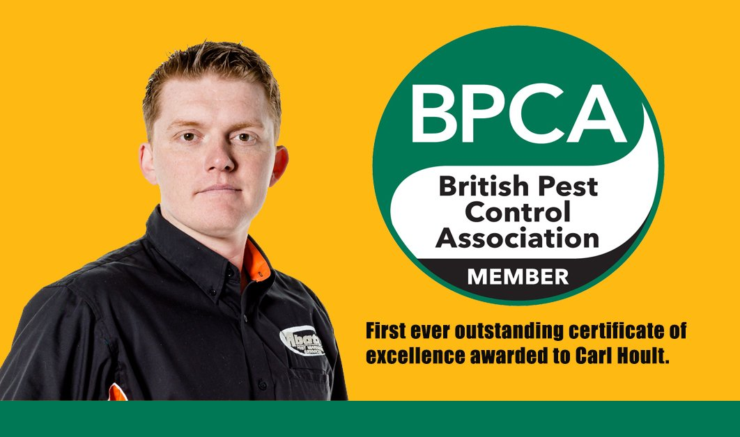 BPCA awards first ever CPD outstanding certificate of excellence to Carl Hoult at Abate Pest Management